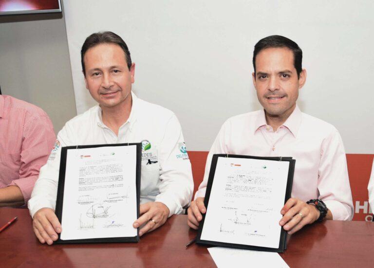 Firma Ayuntamiento de Hermosillo convenio con CEDES: Trabajarán en proyectos específicos de mejora de la calidad del aire y tecnología amigable con el medio ambiente, entre otros.